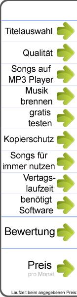 MP3 Flatrate im Vergleich, die Kriterien